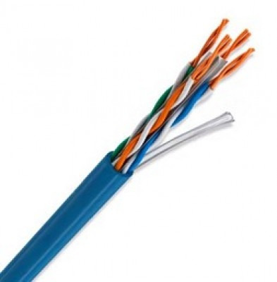 Cable UTP ULTRACAT 5e, Calibre 24 AWG (CMR), Color Azul, Bobina 305m. Mod: 66445912